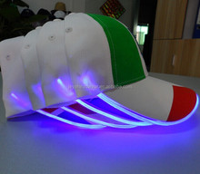 Outdoor Embroidery Cap Football Fans LED light cap
