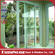 High Quality Modern Indian Window Design Style Aluminium Two Track Sliding Windows with Double Glazed