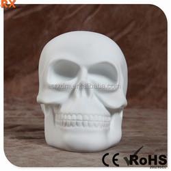 POP Creative blank Skull vinyl toy for decoration, DIY unique Skull pvc toy as adorn, OEM vinyl toy Shenzhen SRX manufacturer