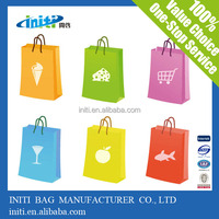 2015 best selling customized paper gift bag / christmas gift bag with handles for promotion