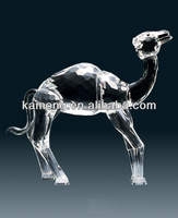 Optical Glass Clear Animal Crystal Camel For Figurine Souvenirs