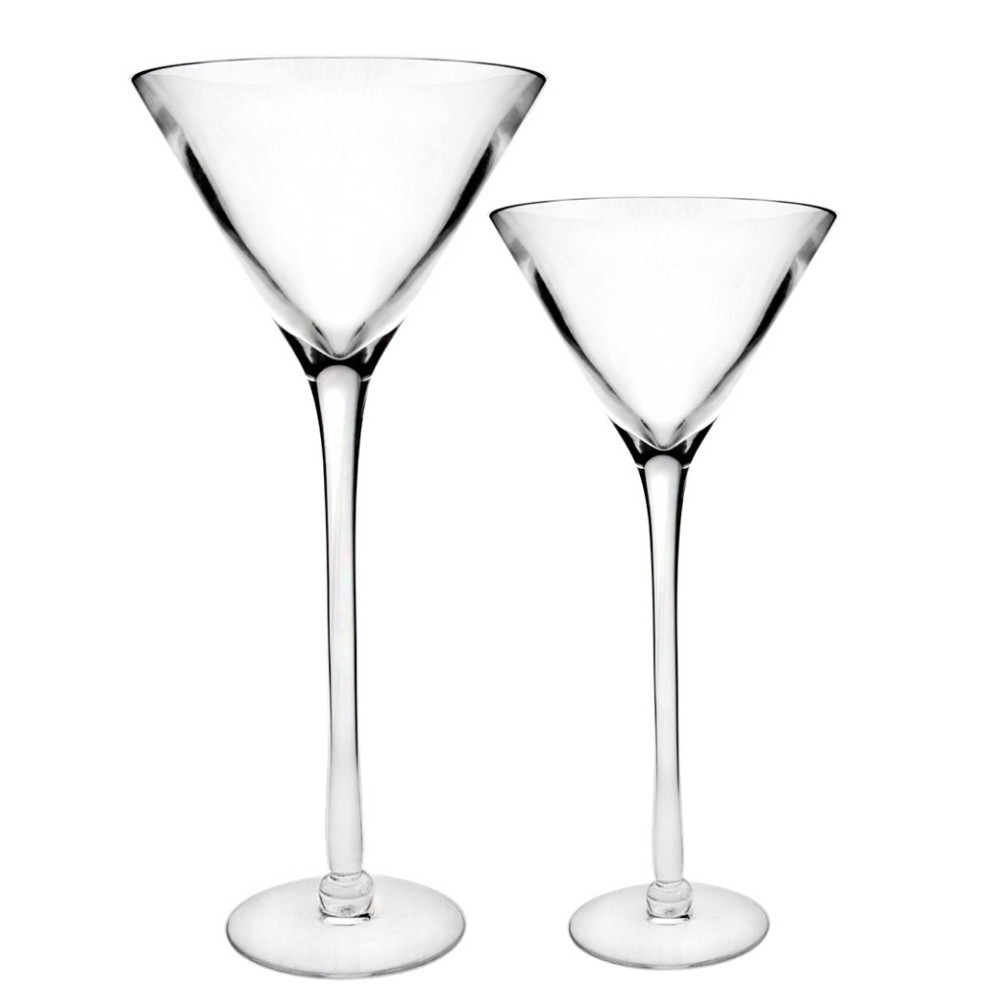 Wholesale Wedding Tall Glass Martini Vase Centerpieces