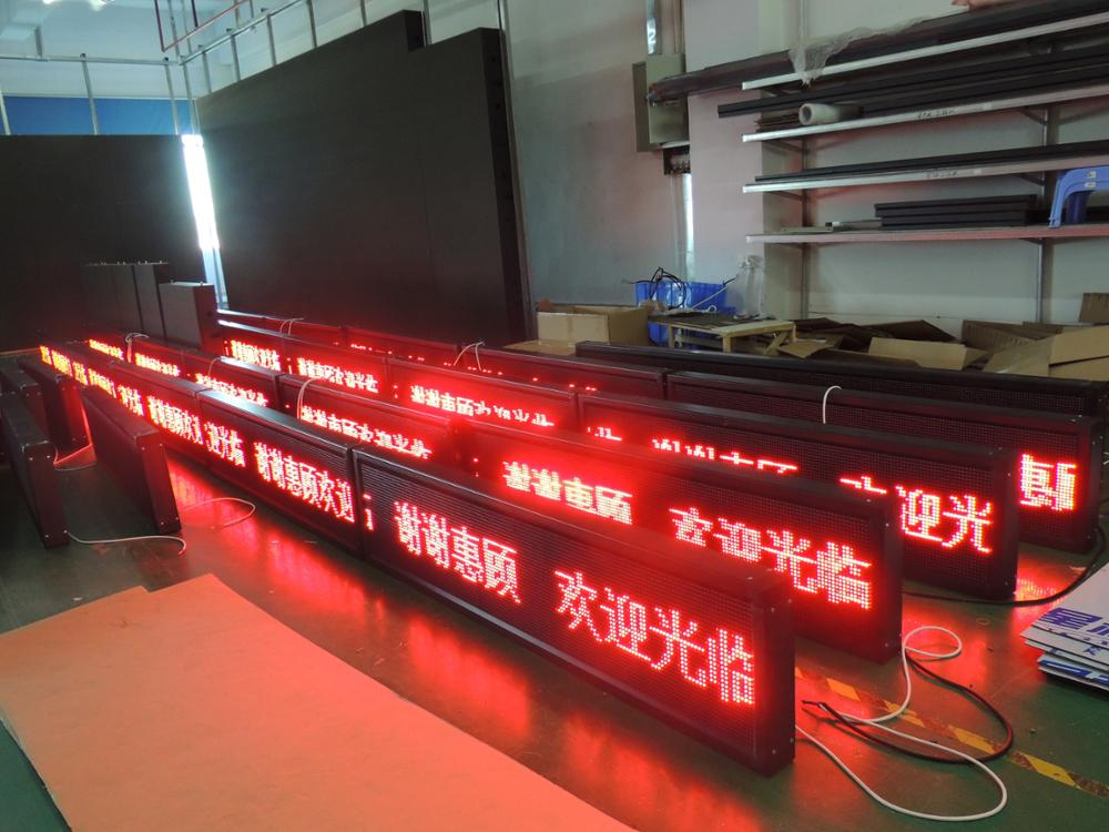p10 led moving sign
