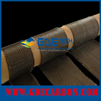 GDE Carbon fiber cloth 3K tape plain and twill woven for sale 2*2 0.22mm 100m/roll