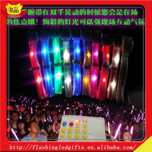 LED Flashing nylon bracelet whole sale light up bracelet luminous braceletfor bar Halloween and Chiristmas