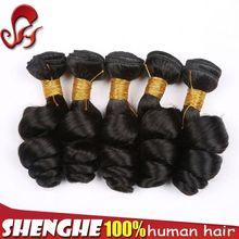 Peruvian virgin loose wave hair weft 100% cheap human hair weaving