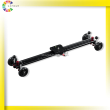 huizhou professional 120cm carbon fiber dslr camera slider wheels for following focus and pan shooting foldable camera dolly