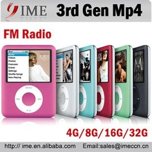 1.8inch Screen 3rd gen Mp4 Player 4G 8G 16G 32G FM Radio+Ebook Special Offer