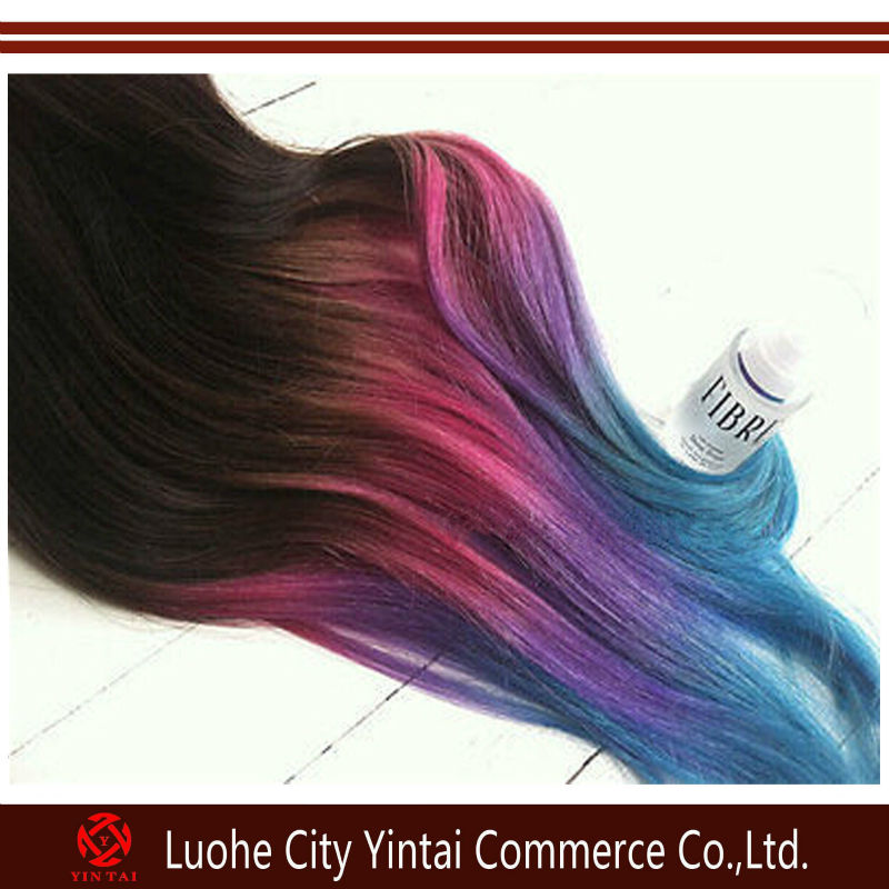 Colorful Rainbow Ombre Hair Ombre Rainbow Color Clip in on
