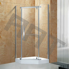 Diamond axis open glass shower cabin