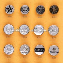 2013 New Style Jeans Button easy to install,Metal Button,Brass Button