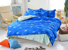 kids cartoon bedding shark ocean style bedding 4pcs set