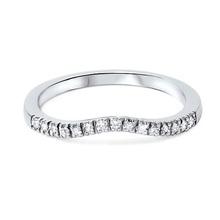 Fashion Curved Diamond Wedding Ring
