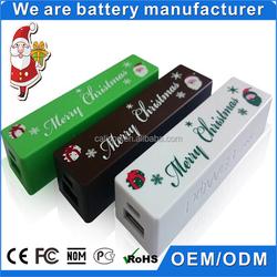Gift chocolate power bank for Christmas portable charger 2000mAh