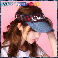 Latest product long lasting men\s sports visor/sun visor cap/ hat for 2016