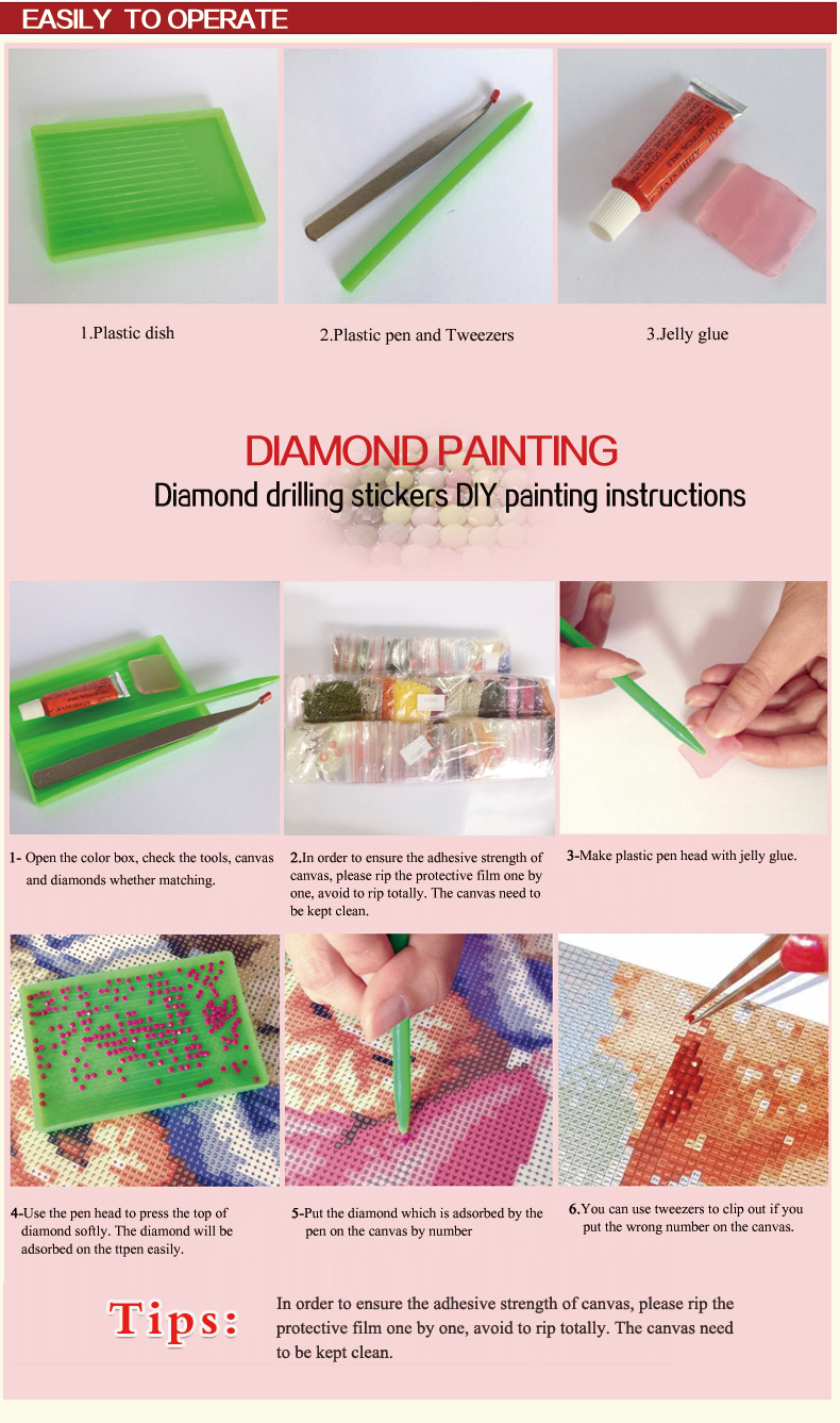 flower paint boy diamond painting for home decor GZ323