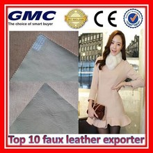 Fashion decoration materials faux fur fabric pvc leather