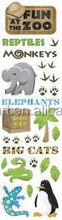 Hot Sale Coustom Fun At The Zoo Clearly Stickers pvc sticker