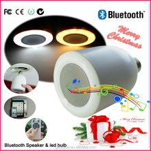 2015 music mini bluetooth vibration led light bulb speaker with CE RoHs