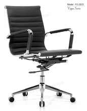 Triumph Classic swivel black leather office chairs / high adjustable Executive Chair with arms / PU office chair casters