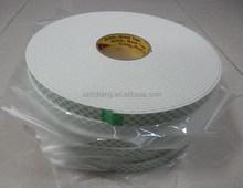 3m 4008 double sided 3mm foam tape, white pu foam tape vhb tape