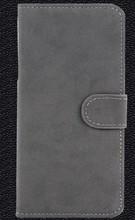 Caja del teléfono del color gris del estilo del libro para Iphone 6