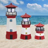 Hot Sale home solar light garden decoration resin lighthouse