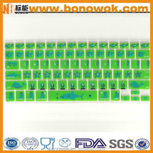 High Quality Custom Silicone Keyboard Cover With Logo Printing