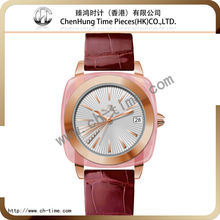 Brand new design fashion girls high quality ladies wrist watch band genuine leather wholesale