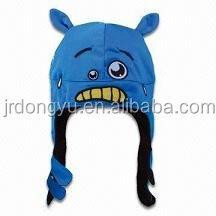 whale animal fleece hat with earflap