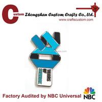 Custom magnetic metal craft lapel pin / pin badge