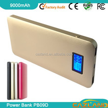 2015 emergency charging OEM/ODM PB09D 9000mah Li-Polymer Rubber Protect Charger