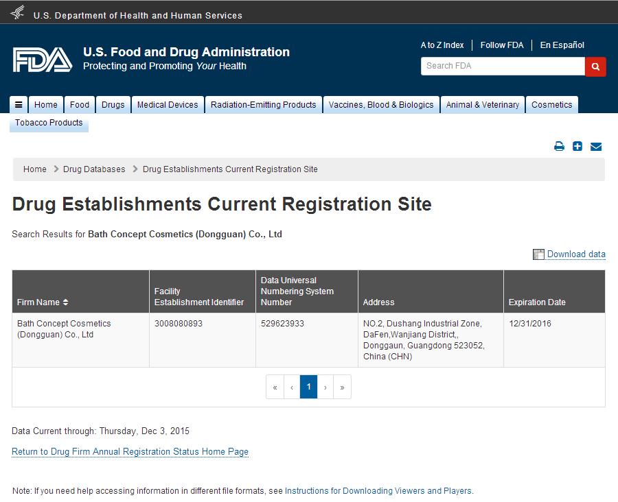 2016 Establishment Registration with FEI Screenshot.png