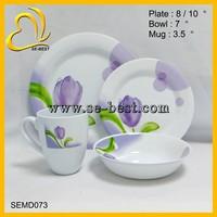 new design full set melamine tableware