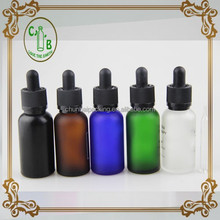 30ml glass dropper bottle e juice packaging supplies with childproof and tamper evident cap