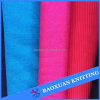100%polyester 2 way stretch tube rib fabric 1x1 rib knit fabric