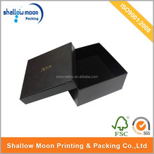Custom luxury black decorative cardboard drawer packaging gift box