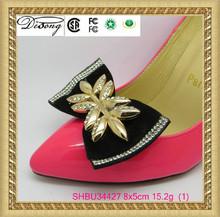 SHBU34427 crystal embellishments rhinestone shoe clips for women shoe
