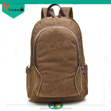 preppy style ECO-friendly waterproof manufacturer produced blue solar canvas backpack for school