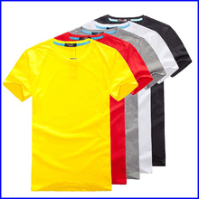 2015 high quality blank t shirt for men's clothing in cheap factory direct clothing wholesale