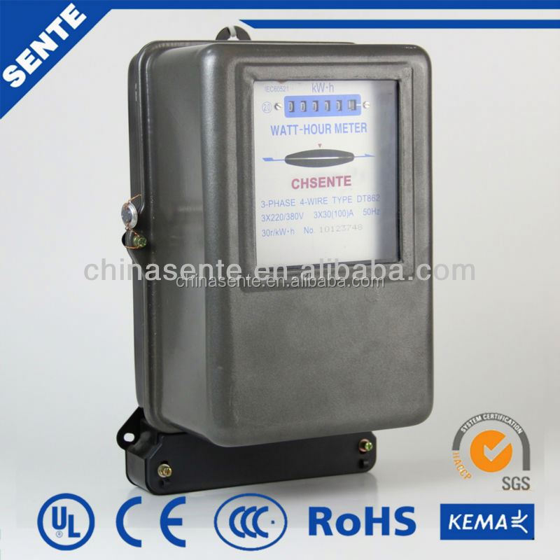 Three Phase Electric Meter : Dt three phase electric power meter rs mechanical