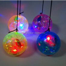 new quality product china alibaba hollow plastic flashing wholesale bouncing balls with flashing light