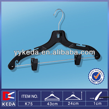 pp black hanger with bar and clips