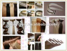 Women Prefer Top Quality Unprocessed Remy blonde curly tape hair extensions