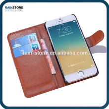 For iphone 6 pu material wallet leather case for iphone case leather