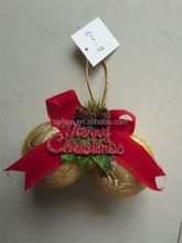 new style gold styrofoam christmas ball/bauble unique native christmas decor with bowknot