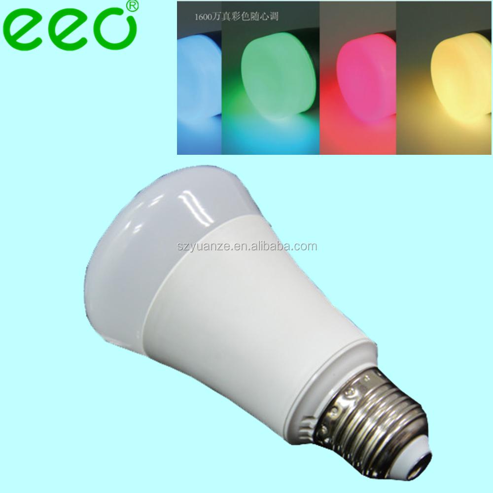 Wireless wifi bluetooth controlled smart led bulb 6w rgbw for Bluetooth controlled light bulb
