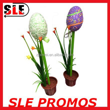 Good idea Easter egg ball pen with flowerpot for kinds as gift