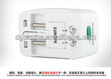 multi portable socket with circuit breaker with EU UK US AU singapore american plugs for samsung/iphone/ipad (CH-127)