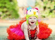 Newborn Infant Baby Beanies Fancy Hot Pink Lace Hat